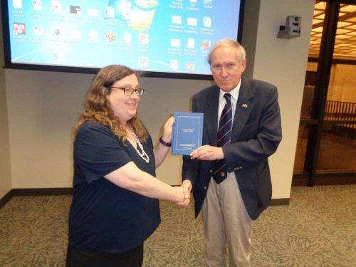 Presentation of volume 13 to the representative of the US Supreme Court Historical Association